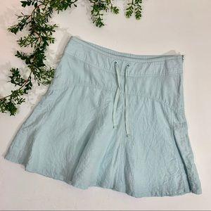 Athleta Daydream Pale Blue Linen Skirt